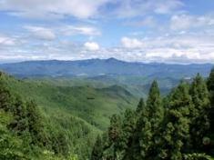 吉野山からの景観
